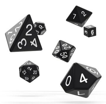 OD RPG Solid 7 Dice Set - Black