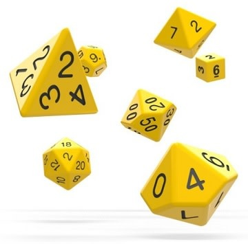 OD RPG Solid 7 Dice Set - Yellow