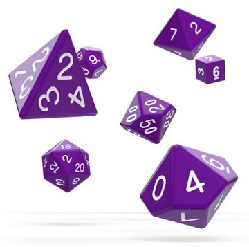 OD RPG Solid 7 Dice Set - Purple