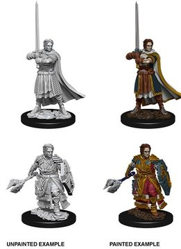 D&D Unpainted Mini - Male Human Cleric