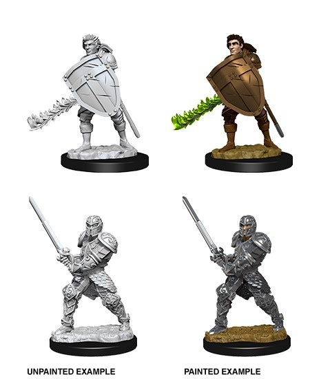 D&D Unpainted Mini - Male Human Fighter