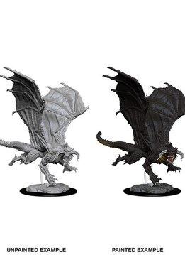 D&D Unpainted Minis - Young Black Dragon