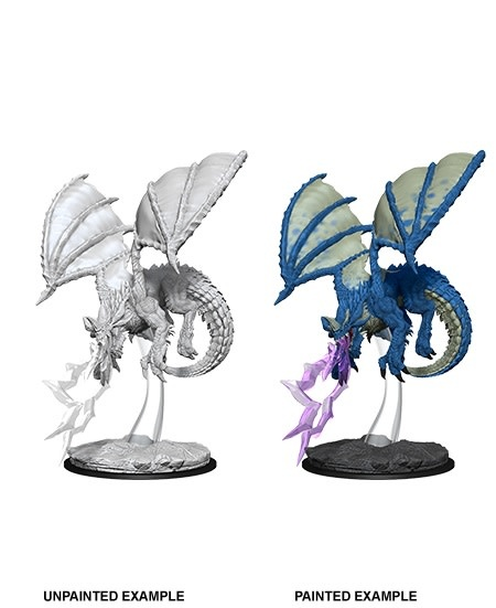 D&D Unpainted Minis - Young Blue Dragon