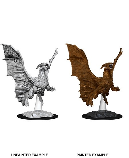 D&D Unpainted Minis - Young Copper Dragon