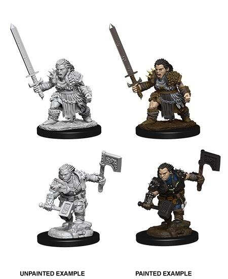 Pathfinder Unpainted Mini - Female Dwarf Barbarian