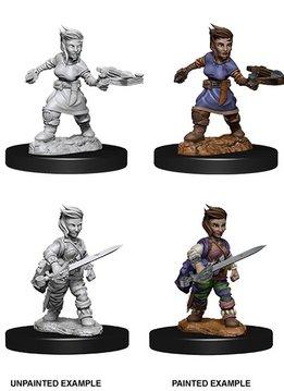Pathfinder Unpainted Mini - Female Halfling Rogue