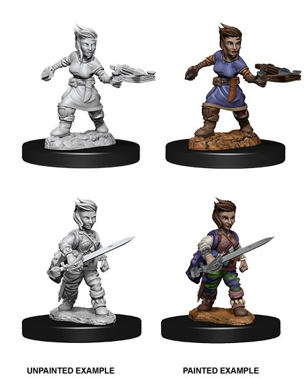 Pathfinder Unpainted Mini - Female Halfling Rogue