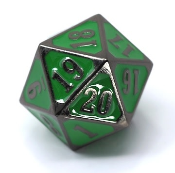 Metal MTG Roll Down Counter Sinister Green