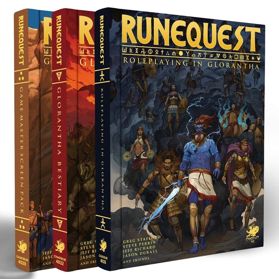 Runequest: Roleplaying in Glorantha DLX Slipcase