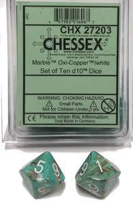 27203 - 10d10 Marbré Oxy-Copper Avec Chiffres Blancs