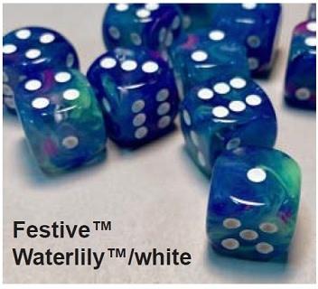 27746 - 12d6 Festive Waterlilly avec Points Blancs