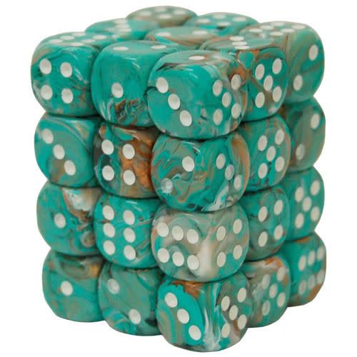 27803 - 36d6 Marbrés Oxy-Copper avec Points Blancs