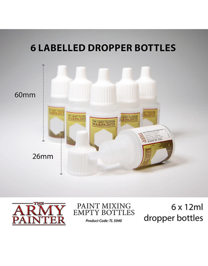 Army Painter Paint Mixing Empty Bottles (Vancouver)