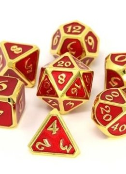Metal Mythica Dice Set - Gold Ruby
