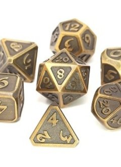 Metal Mythica Dice Set - Battleworn Gold