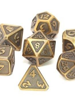 Metal Mythica Dice Set - Battleworn Gold