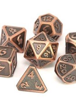Metal Mythica Dice Set - Battleworn Copper