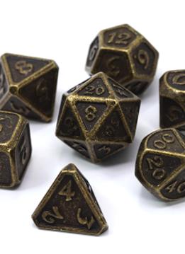Metal Mythica Dice Set - Dark Gold