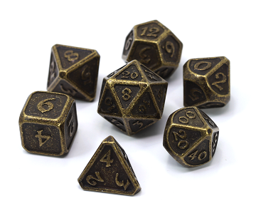 Metal Mythica Dice Set - Dark Gold