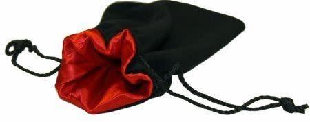 """Velvet 5"""" x 8"""" Black/Red Bag"""