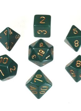 25415: 7 opaque Dusty Green/copper