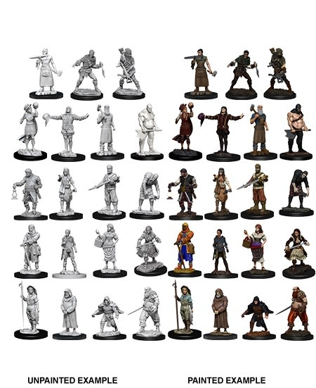 Wizkids Unpainted Mini: Townspeople & Accessories