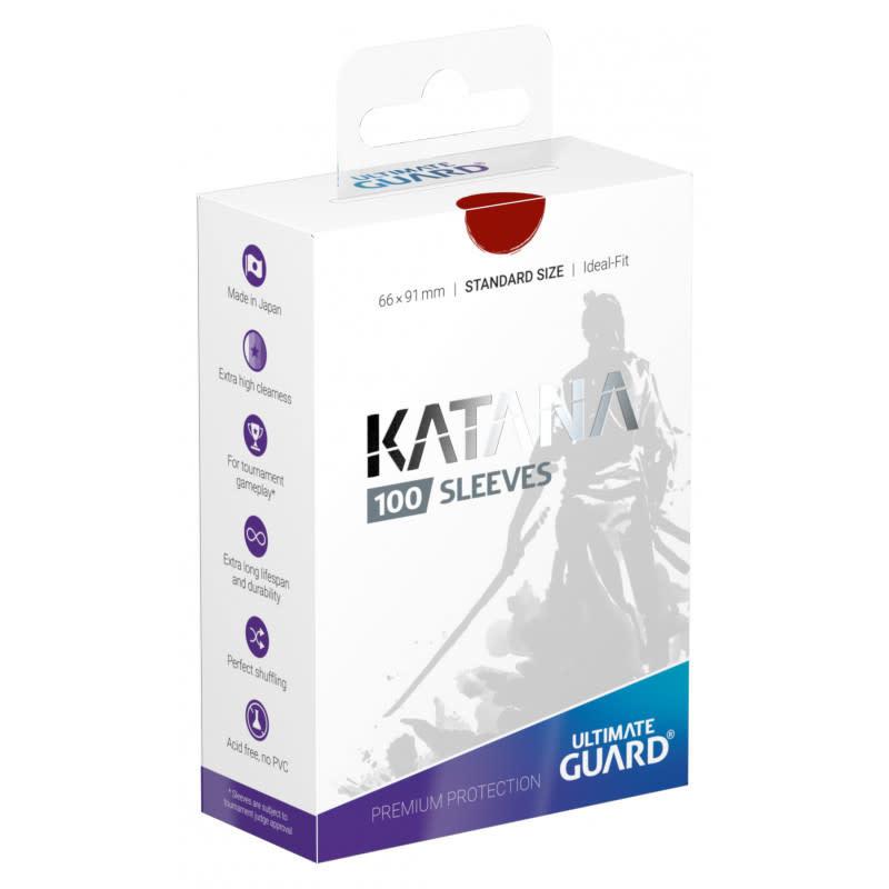 Katana Standard Red 100ct Sleeves