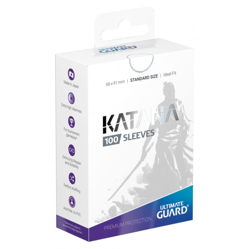 Katana Standard White 100ct Sleeves