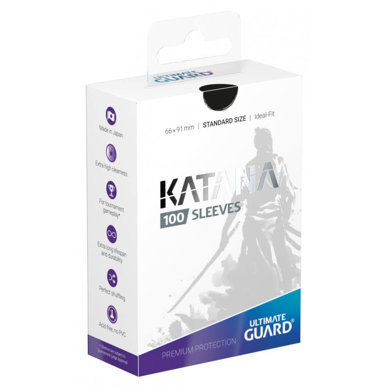 Katana Standard Black 100ct Sleeves
