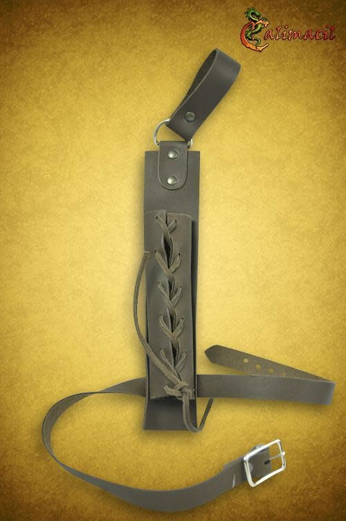 Laced Scabbard for Dagger (Black)
