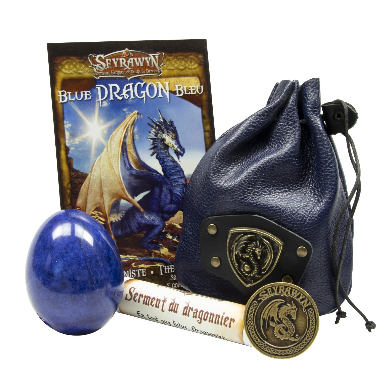 Dragon Egg Pouch Deluxe - Blue