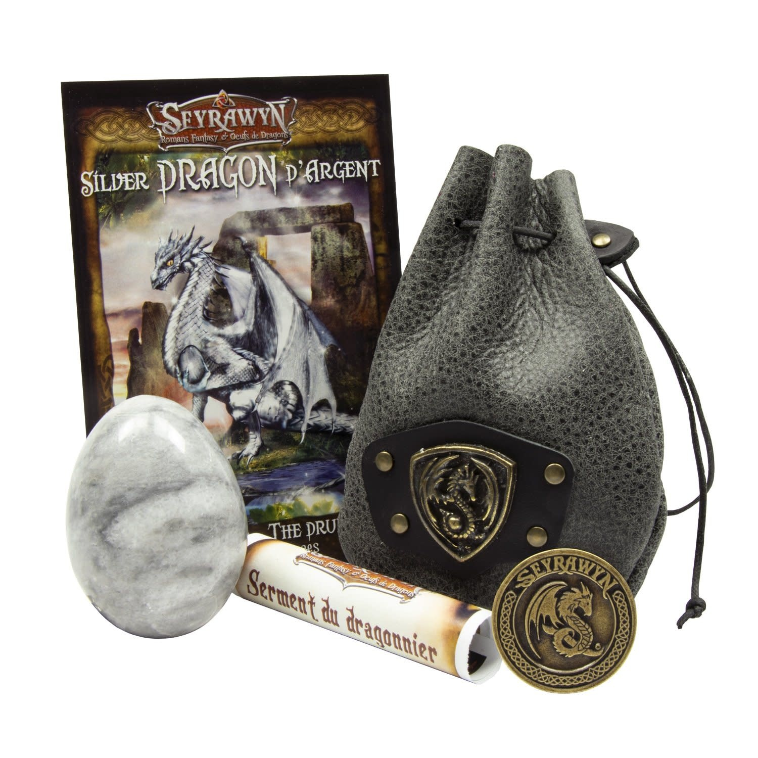 Dragon Egg Pouch Deluxe - Silver