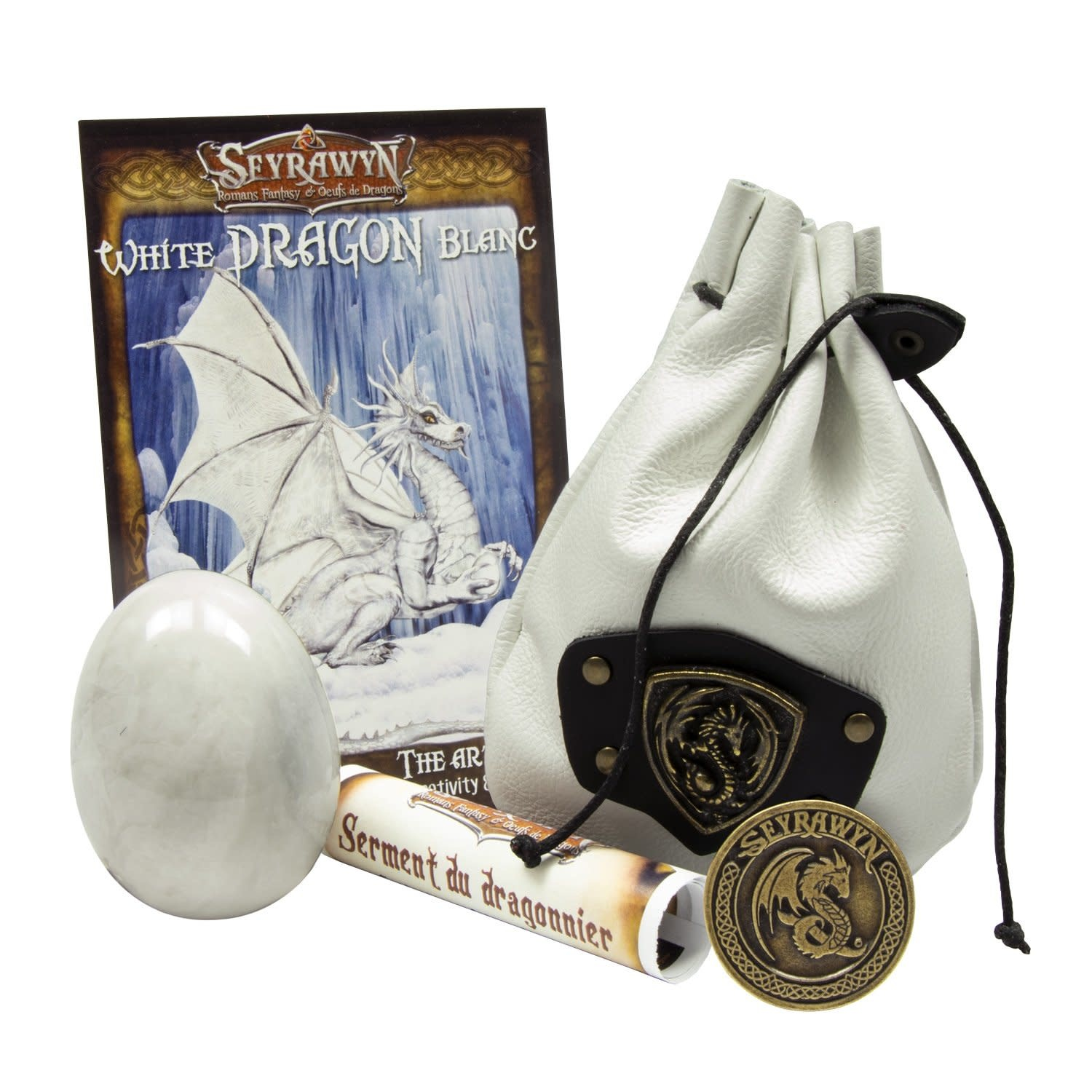 Dragon Egg Pouch Deluxe - White