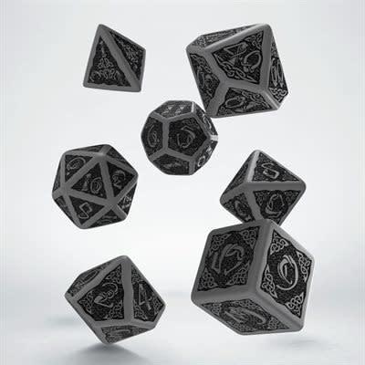 Celtic 3D Dice Grey & Black 7pc