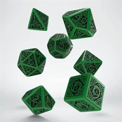 Celtic 3D Dice Green & Black 7pc