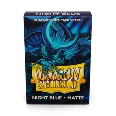 Dragon Shield Matte Japanese Night Blue Sleeves