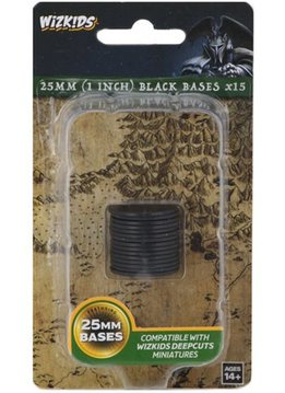 Wizkids Deep Cuts Black 25mm Round Base