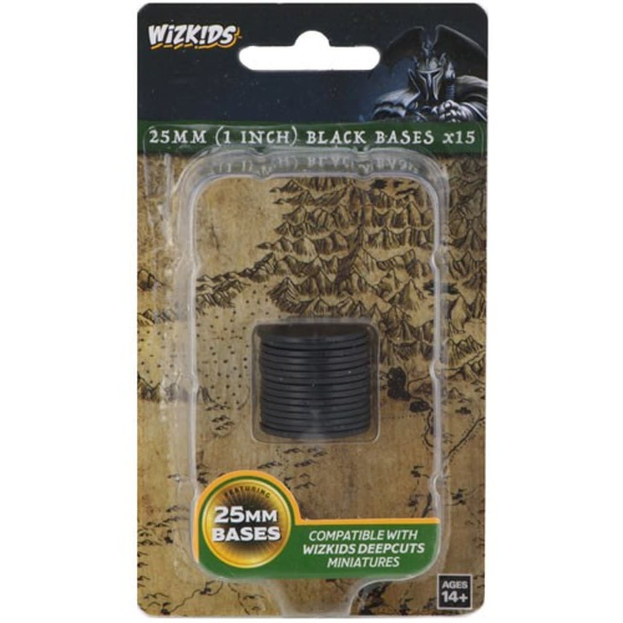 Wizkids Deep Cuts Black 25mm Round Base