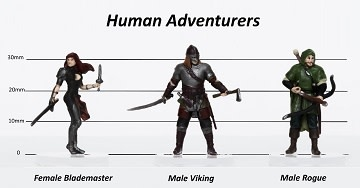 Human Adventurers Set C - Characters of Adventure