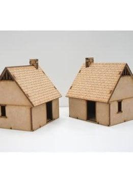Northern European House 2 Pack (Unpainted / Unassembled)