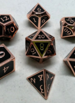 MD018 Metal Dice Copper and Black