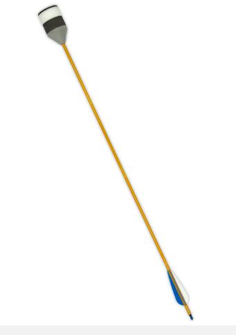 Low Speed Larp Foam Arrow Blue Bicolline