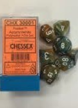 30001 Lab Dice Festive Autumn w/ White 7pc Set
