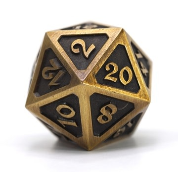DIRE D20 - MYTHICA BATTLEWORN GOLD