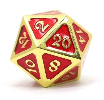 DIRE D20 - MYTHICA GOLD RUBY