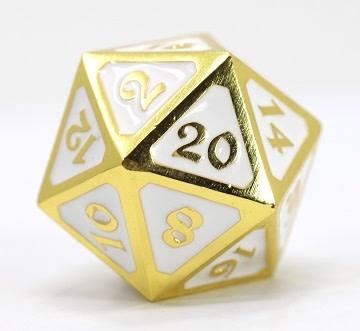 DIRE D20 - MYTHICA SHINY GOLD WHITE