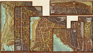 D&D Waterdeep Wards Map Set