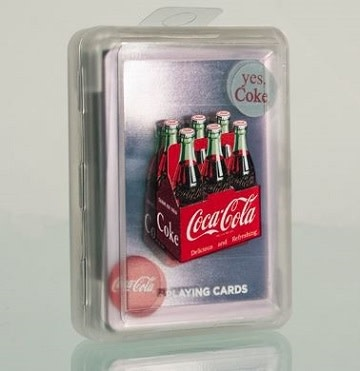 Bicyle coca-cola plastic deck