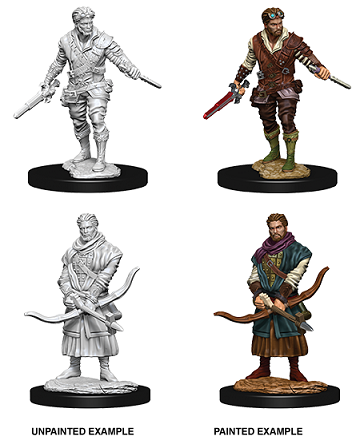 DND UNPAINTED MINIS WV9 MALE HUMAN ROGUE