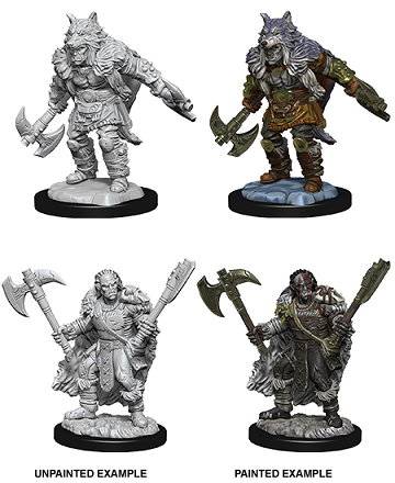 DND UNPAINTED MINIS WV9 MALE HALF-ORC BARBARIAN